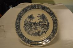 Vintage Royal China Leaf and Berry Border Plate by BigBlossomAntiques on Etsy