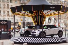 #experiential test drive for the new MINI Roadster on the forecourt of the Centre Pompidou, Paris.