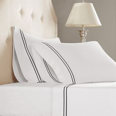 The Madison Park 1200 thread count cotton blend pillowcase is a blend of 52% nature's absorbent cotton and 48% wrinkle–free ultra fine micro polyester. This combination allows the pillowcase to breathe for your comfort, while keeping those annoying wrinkles away.