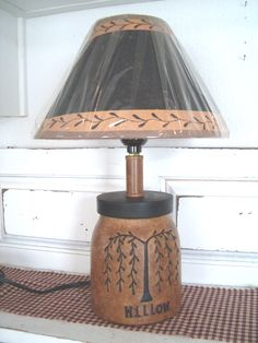 Primitive LampsCountry LampsPunched Tin Lamp ShadesRusty Star