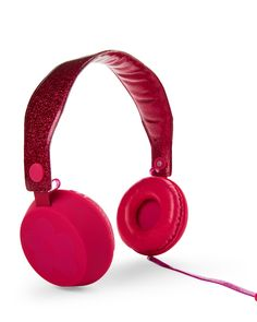 Limited Too Pink Glitterbomb Headphones with Mic