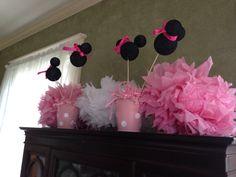Minnie Mouse party centerpieces
