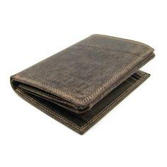 Pánská peněženka kožená tmavě hnědá - peněženky AHAL Money Clip, Wallet, Money Clips, Purses, Diy Wallet, Purse