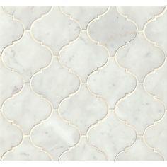 Found it at Wayfair - Marble Mosaic Tile in White Carrara