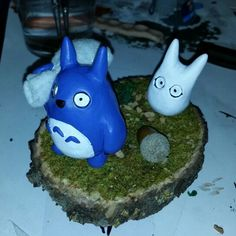 Mini Totoro  ^_^ #totoro #ghiblistudio #neighbor #miyazaki #sculpey #handmade