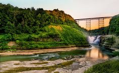 Letchworth State Park, Ny   Letchworth State Park is worth a trip all by itself, and each of the three falls on the Genesee River are must sees. The upper falls is easy to visit, and very impressive.