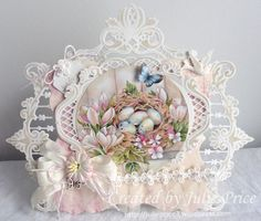 A pretty Spring card using some of my favourite dies https://julieprice3.wordpress.com/?s=floral+elegance