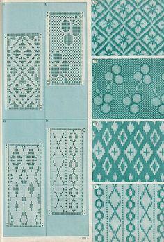 花菱 立涌 襷 annadrianna — «Pattern Library for Punch Card Knitters 1973 Designer Knitting Patterns, Knitting Machine Patterns, Knitting Charts, Knitting Stitches, Knitting Designs, Card Patterns, Mosaic Patterns, Stitch Patterns, Ravelry