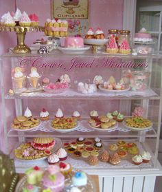 All sweets made by Crown Jewel Miniatures.  <3  http://www.CrownJewelMiniatures.com
