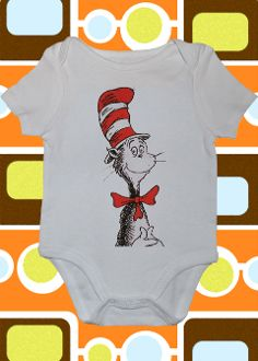 The Cat in the Hat Onesie or Toddler Tee - I could make a cute FABRIC tutu to match for Alexis to wear...sooo cute...