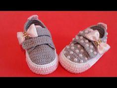 Crochet Baby Boots, Booties Crochet, Crochet Baby Clothes, Crochet Shoes, Crochet Slippers, Baby Booties, Knit Crochet, Baby Kimono, Baby Shoes Pattern