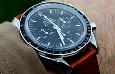 Let's see pics of speedmaster pro's on brown straps - Page 3