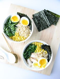 Roasted Chicken Ramen — This recipe is truly a work of art. Luckily, it's just as tasty as it is beautiful! Try making it for your family tonight. Roast Chicken Ramen, Roast Chicken Recipes, Ramen Recipes, Roasted Chicken, Asian Recipes, Cooking Recipes, Healthy Recipes, Ethnic Recipes, Salads