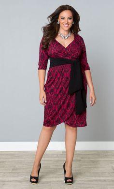 Harlow Faux Wrap Dress - Ravishing Rouge