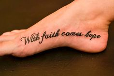Faith and Hope Tattoo
