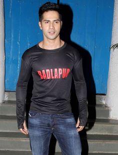 Varun Dhawan at 'Badlapur' wrap-up bash. #Bollywood #Fashion #Style #Handsome