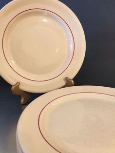 Details about Vintage Inca Ware Dinner Plates Set 4 Red Stripe Made USA Diner Restaurant Ware : buffalo china dinner plates - pezcame.com