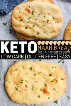 Low Carb Naan Recipe, Keto Flatbread Recipe, Low Carb Chicken Recipes, Low Carb Recipes, Soup Recipes, Recipies, Keto Creamed Spinach, Recipes With Naan Bread, Comida Keto