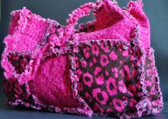 Medium Quilted Style Pink Cheetah Purse by CraftyCakeGirl on Etsy, $15.00