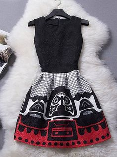 I just like the shape of the dress... not so much the dress design on the skirt,