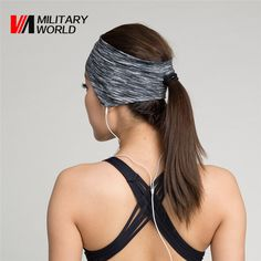 Find More Sweatband Information about Outdoor Sports Ball Games Tennis Sweatbands Head Hair Running Sweat Band Elastic Cloth Cotton Cycling GYM Yoga Fitness HeadBand,High Quality headbands sale,China fitness collection Suppliers, Cheap headband jewelry from Mlitary World Store on Aliexpress.com