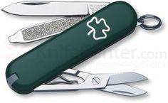Victorinox Swiss Army Classic SD Multi-Tool, Green Shamrock, 2-1/4 inch Closed