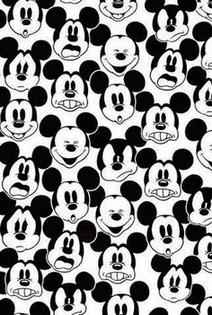 Mickey many faces wallpaper