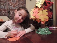 Gratitude Tree Thanksgiving craft for kids