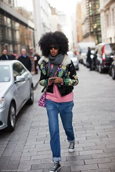 LOVE THIS WOMAN'S STYLE TO DEATH. julia sarr-jamois #streetstyle, note the #converse