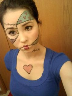 ragdoll halloween makeup