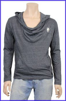 Crafted Mens Hooded Skull Print Sweater