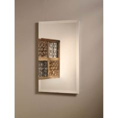"Jensen Perfect Square 16"" x 26"" Recessed Beveled Edge Medicine Cabinet & Reviews 