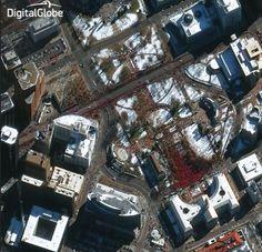 Denver Broncos parade seen from space