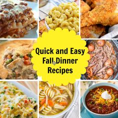 Quick And Easy Dinne