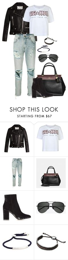 """Untitled #3014"" by moxfordf on Polyvore featuring Acne Studios, Tommy Hilfiger, OneTeaspoon, Coach, Gianvito Rossi, Yves Saint Laurent, Monica Vinader and Links of London"