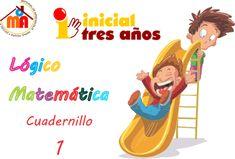 Cuadernillo 1 Lógico matemática inicial 3 años Baby Play, Homeschool, Family Guy, 1, Teacher, Activities, Math, Learning, Ideas Para