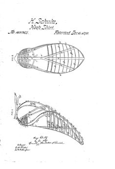 """""""Beetle wing"""" Bustle 1970 US patent 109,947"""