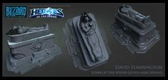ArtStation - Heroes Of The Storm - Tomb Of The Spider Queen Sarcophagi, David Harrington