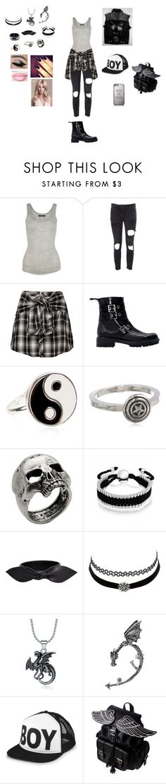 """Untitled #183"" by warrior98 ❤ liked on Polyvore featuring Isabel Marant, Faith Connexion, Zara, Accessorize, Marvel Comics, John Richmond, Bling Jewelry, Yves Saint Laurent, Charlotte Russe and BOY London"