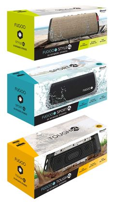 FUGOO Go-Anywhere Speakers Packaging
