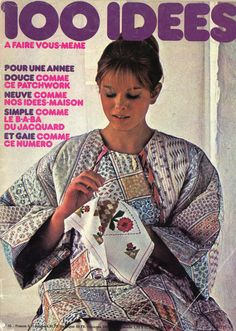100 Idées n°45 - janvier 1977 - couverture - photo Jacques Dirand - coiffure Camille Albane.