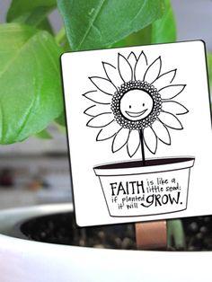 GROWING SEEDS OF FAITH free printable seedling tag via Year of FHE.