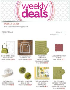 Junk Masterpieces: Stampin' Up! Weekly Deals: August 12-18, 2014