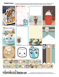 FREE Kawaii Cocoa Printable BY Victoria Thatcher