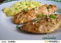Kuřecí plátky s nivou recept - TopRecepty.cz Protein, Bon Appetit, Baked Potato, Potato Salad, Chicken Recipes, Food And Drink, Menu, Restaurant, Cooking