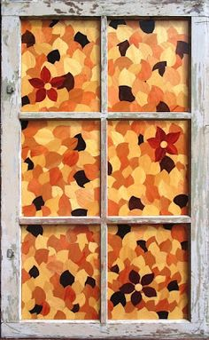 Fall Bulletin Board Ideas: Use paper to create window look with opportunities through the glass