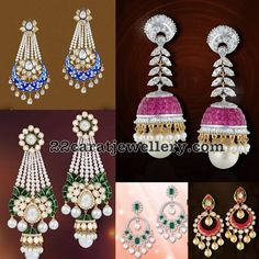 If you are looking for the fresh designs launched by Shobha Asar, you really need to check out this one. Gold Hoop Earrings, Teardrop Earrings, Ring Earrings, Gemstone Earrings, Gold Necklaces, Metallic Lipstick, Jewelry Design Drawing, Jewelry Patterns, Jewellery Designs