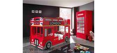 Dětský pokoj s patrovou postelí v londýnském stylu Design, Bed, Searching
