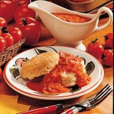 Old-Fashioned Tomato Gravy- instead of using diced tomatoes and tomatoe juice, I use 1 quart of home canned tomatoes.