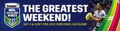 TV Coverage - 2017 Downer NRL Auckland Nines live Rugby Streaming Games in Eden Park Rugby 2017, Rugby Tv, Nrl 9s, Rugby Championship, Tv 2017, Eden Park, Game Streaming, All Blacks, Live Tv